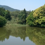 天平の古道入り口ため池